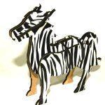 puzzle 3d zebre