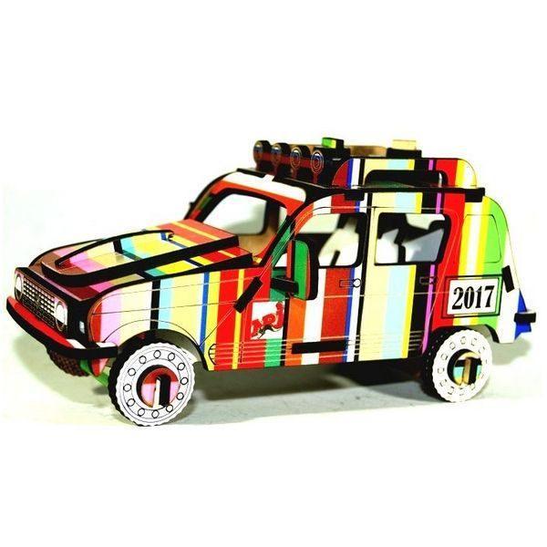 puzzle 3d bois 4l rallye