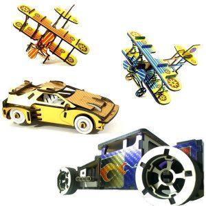 Puzzle 3D bois vinyle décoré