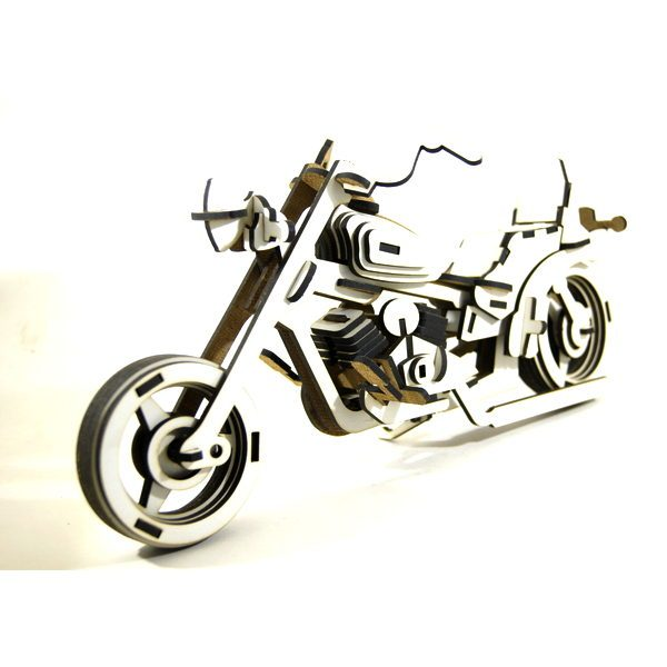 puzzle 3d deco harley