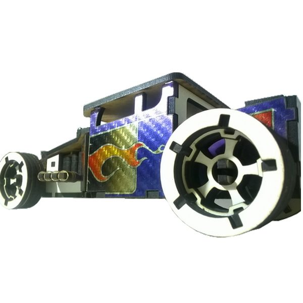 puzzle 3d hot rod carbone